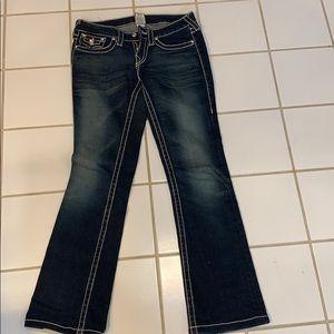 True Religion dark jeans with Rhinestones